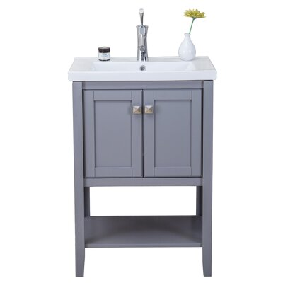 Chesterman 24 Single Bathroom Vanity Set Base Finish: Gray