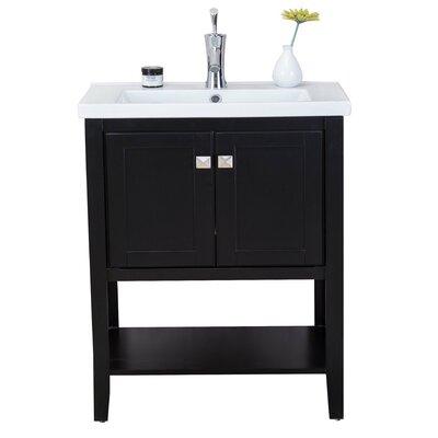 Chesterman 24 Single Bathroom Vanity Set Base Finish: Espresso