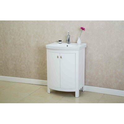 Taryn 24 Single Bathroom Vanity Set Base Finish: White