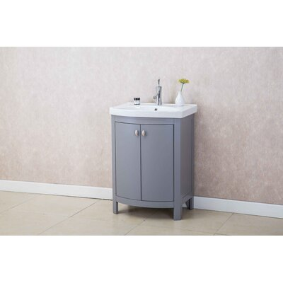 Taryn 24 Single Bathroom Vanity Set Base Finish: Gray
