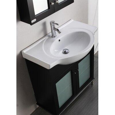 Tux 36 Single Bathroom Vanity Set Base Finish: Espresso