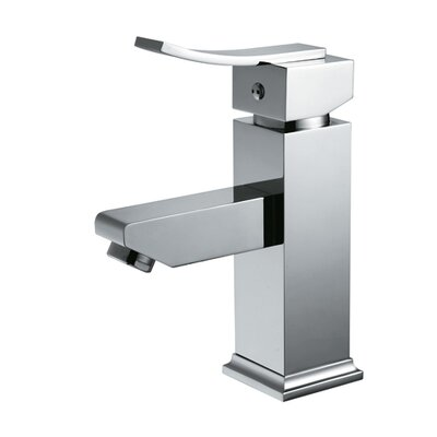 Bevera� Single Handle Deck Mount Lever Handle Bathroom Faucet Finish: Brushed Nickel