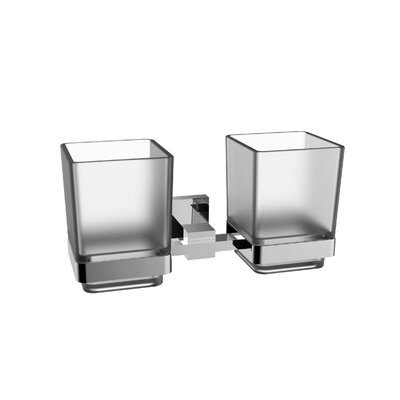 Holdy Twin Toothbrush Holder Finish: Chrome REBR1867 38717625