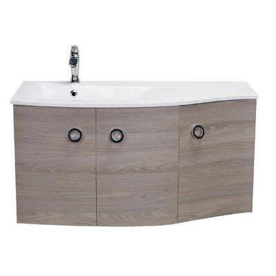 Brookline Medium Modern 42 Wood Single Bathroom Vanity Set