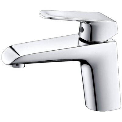 Lotus Single Handle Bathroom Faucet with Drain Assembly Finish: Chrome
