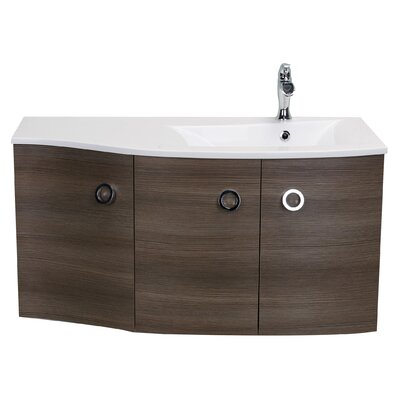 Brookline Medium Modern 42 Single Bathroom Vanity Set Base Finish: Wenge