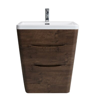 Bea Modern 32 Single Bathroom Vanity Set Base Finish: Rosewood