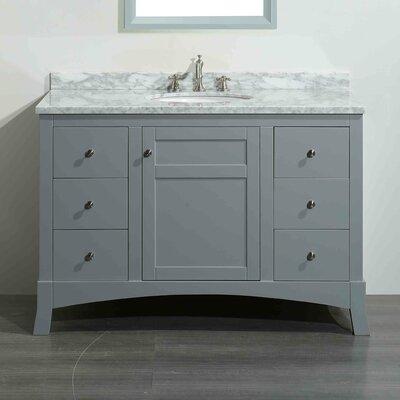Piccirillo 42 Single Bathroom Vanity Set Base Finish: Rosewood