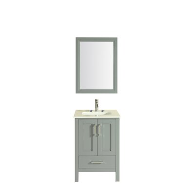 Arnab Transitional 24 Single Bathroom Vanity Set Base Finish: Gray