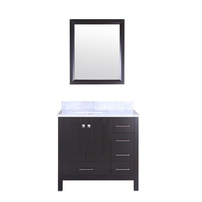 Arnab Transitional 36 Single Bathroom Vanity Set Base Finish: Espresso