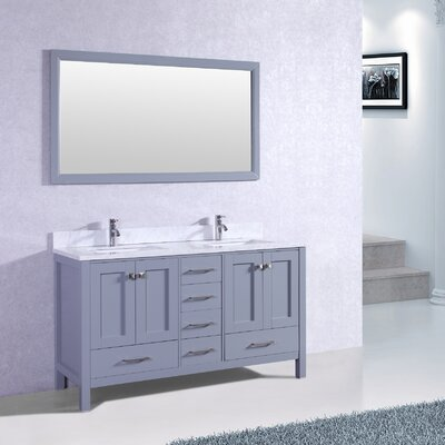Arnab Transitional 60 Double Bathroom Vanity Set Base Finish: Gray