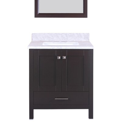 Arnab Transitional 30 Single Bathroom Vanity Set Base Finish: Espresso