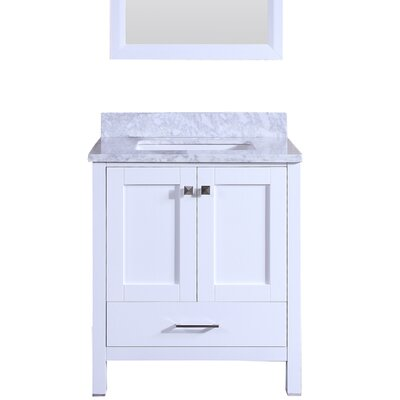 Arnab Transitional 30 Single Bathroom Vanity Set Base Finish: White