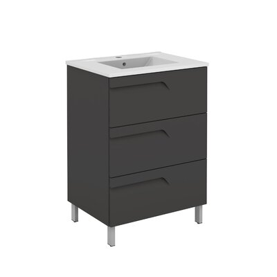 Oberlin 43 Single Bathroom Vanity Set Base Finish: Gray