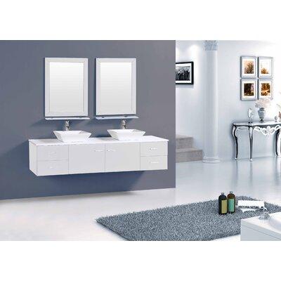 Azzitta 60 Double Bathroom Vanity Set