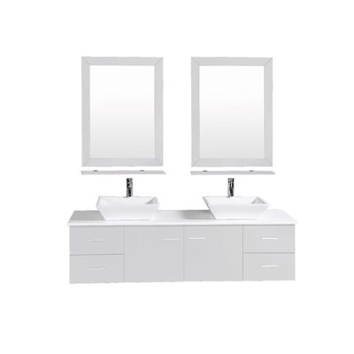 Azzitta 72 Double Bathroom Vanity Set