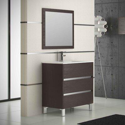 Escorpio� 32 Single Bathroom Vanity Set Base Finish: Wenge