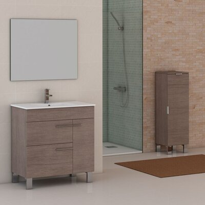 Cup� 31.5 Single Bathroom Vanity Set Base Finish: Medium Oak