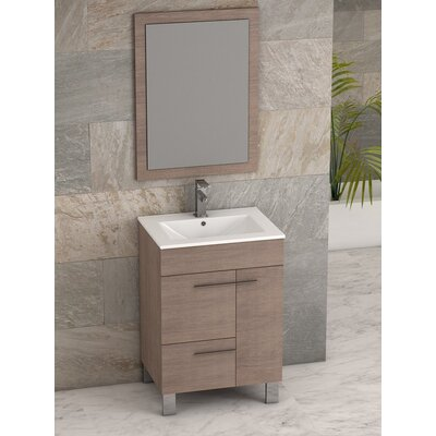 Cup� 24 Single Bathroom Vanity Set Base Finish: Medium Oak