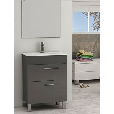 Cup� 24 Single Bathroom Vanity Set Base Finish: Gray