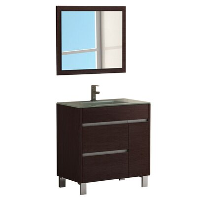 Tauro� 32 Single Bathroom Vanity Set Base Finish: Wenge