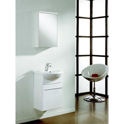 Venti 18 Single Bathroom Vanity Set Base Finish: White