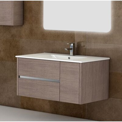 Aries� 39 Single Bathroom Vanity Set Base Finish: Medium Oak