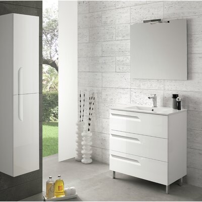 Oberlin 43 Single Bathroom Vanity Set Base Finish: White