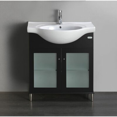 Tux 24 Single Bathroom Vanity Set Base Finish: Espresso