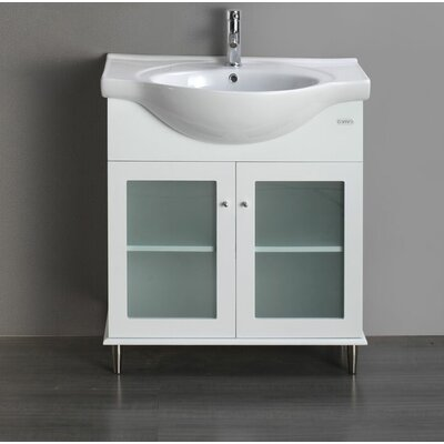 Tux 24 Single Bathroom Vanity Set Base Finish: White