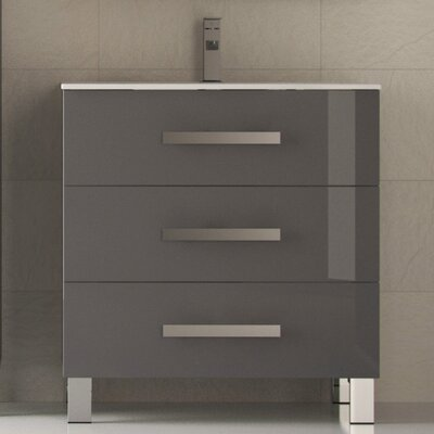 Libra� 31.5 Single Bathroom Vanity Set Base Finish: Gray