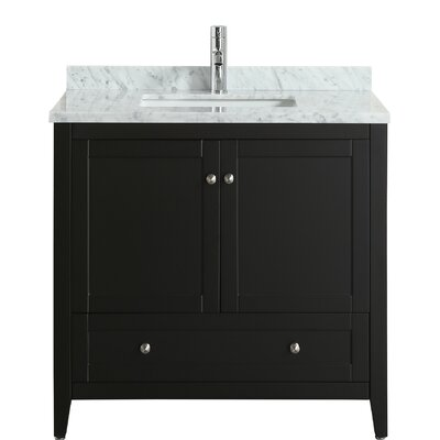 Hutcherson 36 Single Bathroom Vanity Set Base Finish: Espresso