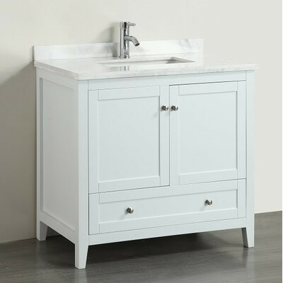 Hutcherson 36 Single Bathroom Vanity Set Base Finish: White