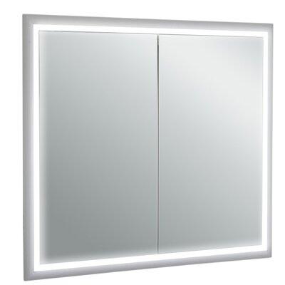 Saakshi 33 x 30.2 Surface Mount Medicine Cabinet with LED Lighting