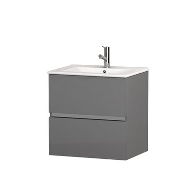 Ikaro� 24 Single Bathroom Vanity Set Base Finish: Gray