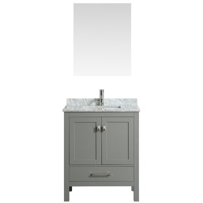 Khadijah 30 Single Bathroom Vanity Set Base Finish: Gray, Top Finish: Gray/White