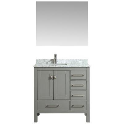 Khadijah 36 Single Bathroom Vanity Set Base Finish: Gray, Top Finish: Gray/White