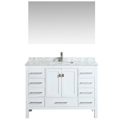 Khadijah 48 Single Bathroom Vanity Set Base Finish: White