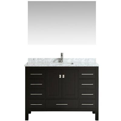 Khadijah 48 Single Bathroom Vanity Set Base Finish: Espresso