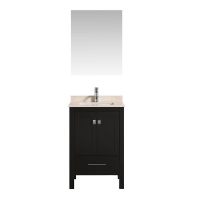Khadijah 24 Single Bathroom Vanity Set Base Finish: Espresso, Top Finish: Beige