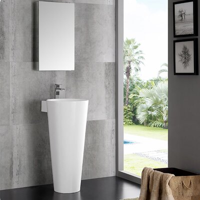 Evianna Oval Pedestal Bathroom Sink