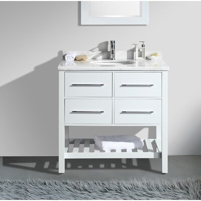 Natalie� 36 Single Bathroom Vanity Set Base Finish: White