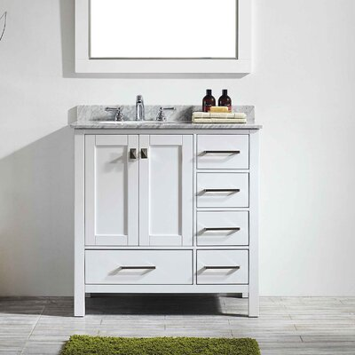 Pichardo 36 Single Bathroom Vanity Set Base Finish: White