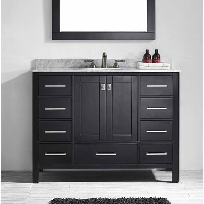 Pichardo 42 Single Bathroom Vanity Set Base Finish: Espresso