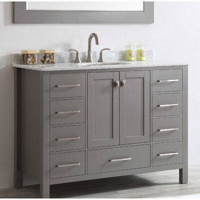 Pichardo 42 Single Bathroom Vanity Set Base Finish: Gray