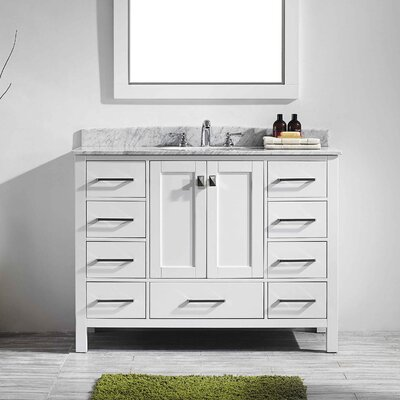 Pichardo 42 Single Bathroom Vanity Set Base Finish: White