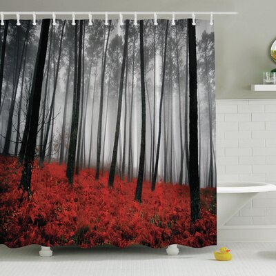 Fall Print Shower Curtain