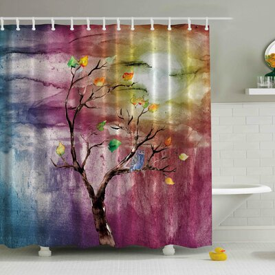 Windy Print Shower Curtain