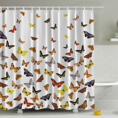 Butterflies Print Shower Curtain