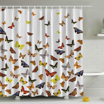 Butterflies Print Shower Curtain